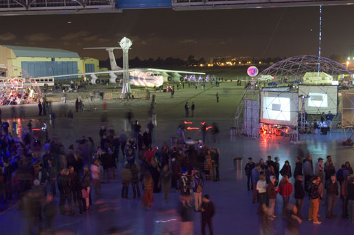Yuri's Night 2007; the exhibits on the tarmac
